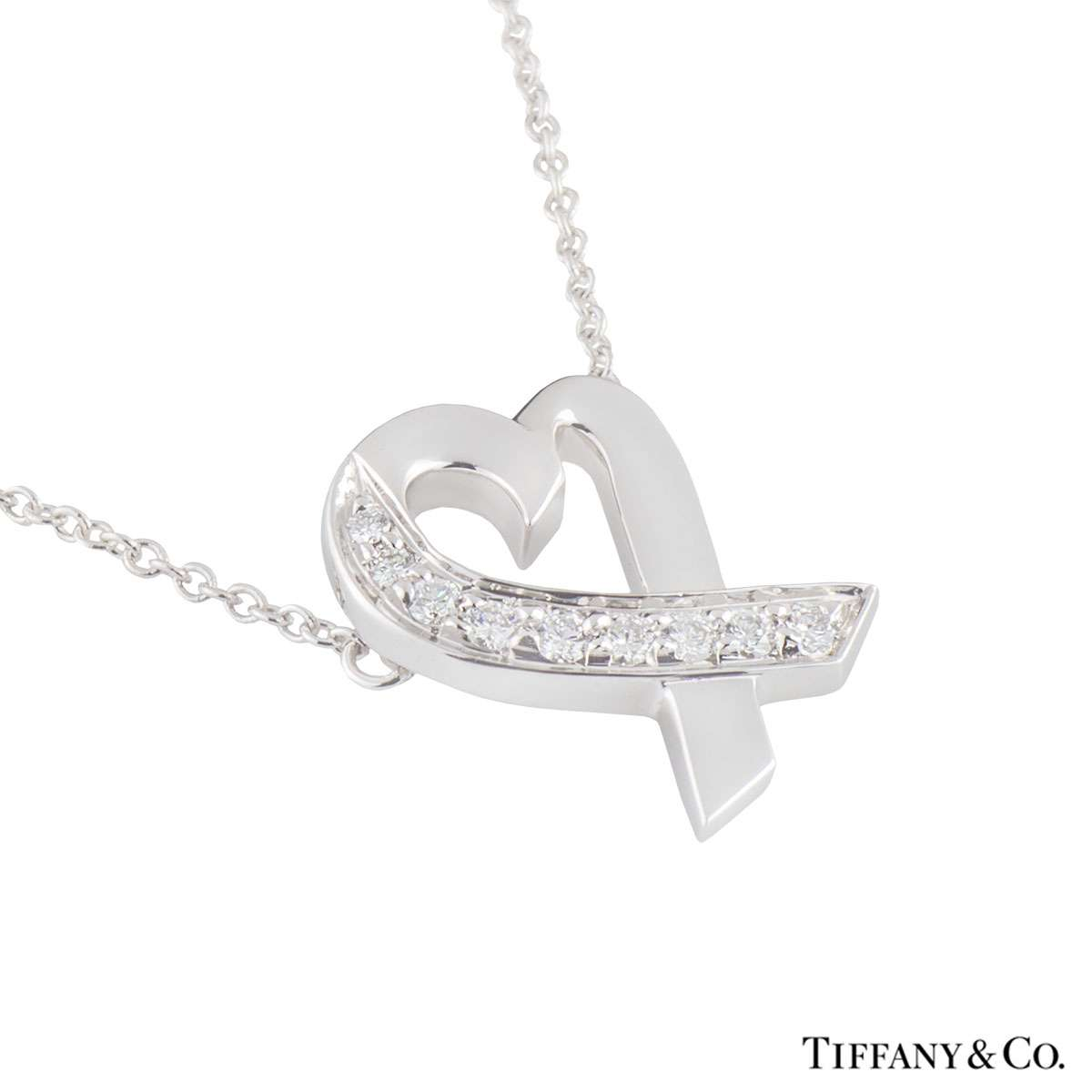 Tiffany & Co. White Gold Paloma Picasso Diamond Pendant